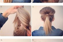Hairstyles / Fan bun