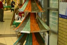 #ecotree entrants / Christmas Trees made from recyclable materials.