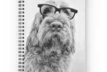 SPIRAL NOTEBOOKS - ITALIAN SPINONE / Buy any 2 and get 15% off. 120 pages. Cover 350gsm, paper stock 90gsm. Italian Spinone front cover print. Available in a selection of ruled or graph pages. Handy document pocket inside the back cover