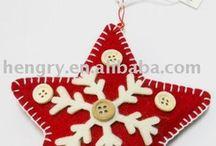 felt Xmas ornaments