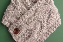 neck warmers / knit neck warmers with button closing
