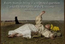 Spiritual Quotes with Paintings as Background