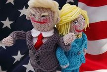Knitted Donald & Hillary USA Election 2016 / Cute versions of Donald and Hillary