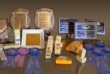Awards / Our cheese is made in 640 lb. blocks. And for the last four years, we've taken a piece of it, entered and won competitions.   World Championship Cheese Contest – Best In Class (Monterey Jack) Incredible Food Show – Best Of Show Savory (Smoked Cheddar) Governor Phil Bredesen's Award (Monterey Jack) Kentucky State Fair – Gold Medal (Cheddar Cheese, Aged Cheddar Cheese, Processed American Cheese Sweet Cream Butter  This board honors cheese recipes that we think are award winning!