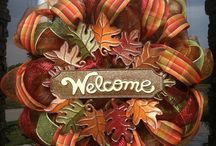 Autumn Wreaths and Decorations