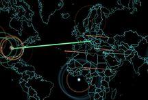 Digital Attack Maps / Maps showing digital attacks. #DigitalAttacks