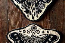 Inspirações Tattoo I Xilogravura