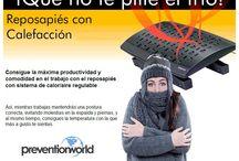 Ergonomía / Soluciones ergonómicas para hacer más seguro y confortable tu lugar de trabajo. http://prevention-world.com/tienda/ergonomia/
