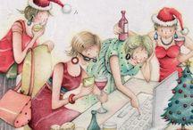 funny christmas ladies