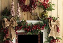 Chimeneas navideñas decoracion