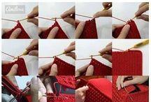 Bobble stitch for handbag
