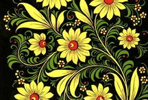 цветы роспись