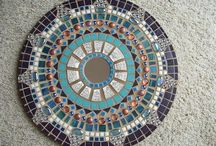 Mosiac Circle Mirror