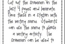 School Ideas- Snowman/Winter