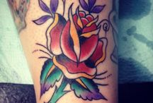 board / rose tattoos