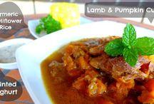 Lamb shank and pumpkin curry