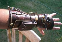 Steampunk leather art