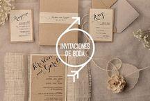 Invitaciones de boda / Te presento desde reglas, consejos, ideas y tendencias relacionados con el elemento que será el encargado de anunciar que te casas: las invitaciones de boda.