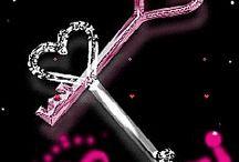 llaves y corazón