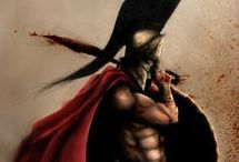 cascos y guerrero