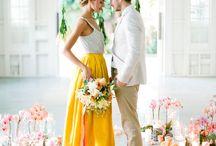 Yellow white wedding