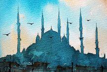mosque art pano