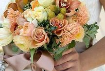 Wedding flowers in unusual colours / Wedding flowers in shades of brown,ecru,champagne,orange and taupe