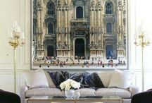 Oversized artwork for lounge