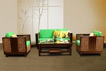 Living Set / Our furniture are made from Natural fibers and Rattan which can grow fast and easily in Indonesia Rain Forest.
