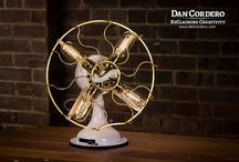Vintage Fan Lamps / Breathing new life into these rusty fans.