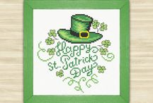 St. Patrick Day / Cards, decor, craft for kids, green decor, green item, shamrock, green leaves, St Patrick party