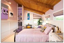 Purple & Yellow Girl's Bedroom by Little Crown Interiors / Modern girl's bedroom in lavender, cool gray and yellow, designed by Little Crown Interiors in Orange County, CA.