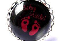 Bagues Grossesse / Des Bagues pour afficher fièrement votre grossesse et avec humour :) #bague #grossesse #humour