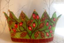 Felted birthday crown