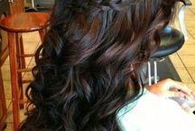 bridal updo brunette