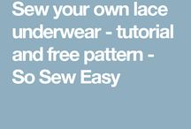 Sewing lace underwear