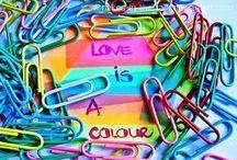 I Love Colors / Painel de Inspiração Pesquisa imagética de Cor por si só!