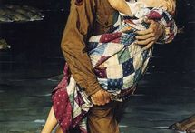 NORMAN ROCKWELL: American illustrator and great painter (1894 - 1978). / Norman Rockwell (1894 –1978) was a 20th century American author, great painter and great illustrator. His works enjoy a broad popular appeal in the United States for their reflection of American culture. Rockwell is most famous for the cover illustrations of everyday life, The Saturday Evening Post, magazine over nearly five decades.