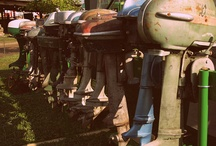 Old outboard motors