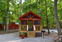 Cozy Cabins / Experience tiny house living in one of the many cozy cabins available at #JellystoneMD!