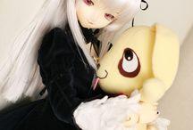 Anime-style dolls