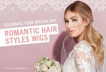 """""""Celebrate your special day"""" Romantic Hair Styles Wigs"""