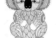 Coloring pages, start creating. / Coloring books, one way to relax your mind after a hard day at work.
