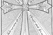 Színezőlapok, kereszténység