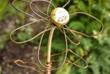 Shelley Jackson Design - Recycle Art / Garden art created from recycled materials.