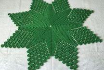 Toalha  de mesa crocher  natalina