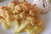 Apfel Streusel gebacken - Dinkelmehl