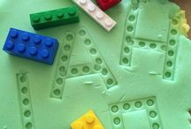 Edukational game / earning games - exploring Lego and play dough.