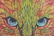 eyes of cat / #cat #tiger #orange #yellow