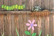 fence painting ideas